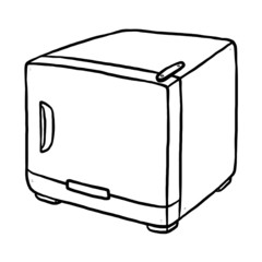 refrigerator hand drawn
