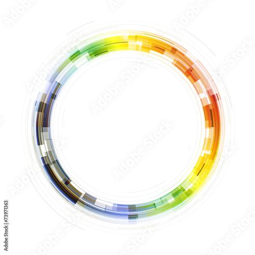 Colorful Transparent Circle Symbol. Template for Covers, Posters