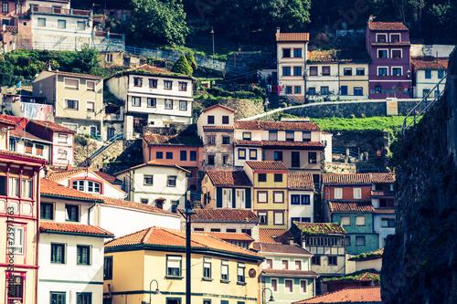 Cudillero, fishing village in Asturias (Spain) - 73971763