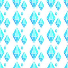 Vector geometric seamless pattern with diamonds