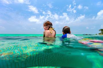 Kids having fun in swimming pool