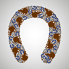 horseshoe pattern color