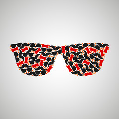 pattern hipster color
