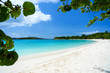 canvas print picture - Beautiful tropical beach at Caribbean
