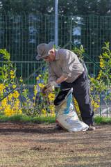 Active senior home gardening