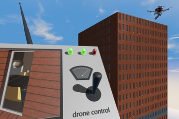 Drone met afstandbediening