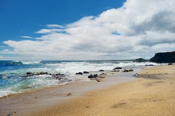 Stunning glass beach near Port Allen town on Kauai