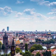 Bridges and rooftops of Prague