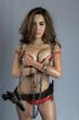 Young beautiful Sexy Asian woman wearing elegant lingerie