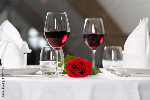 Papiers peints Table preparee romantic dinner