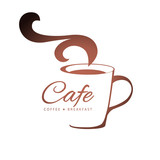 Fototapety coffee logo template