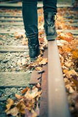 Walking Railroad Tracks