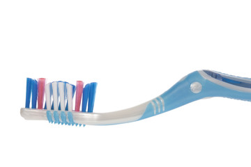 Modern toothbrush isolated on a white background