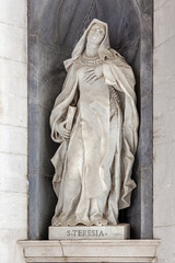 Saint Teresa of Avila. Italian Baroque sculpture