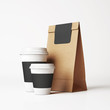 Paper bag and cups - 73976360