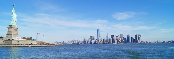 New York mit Freiheitsstatue - Panorama