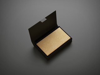 Kraft business cards in the box