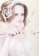 Snow woman princess