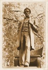 Vintage postcard depicting Abraham Lincoln