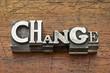Zdjęcia na płótnie, fototapety, obrazy : change word in metal type