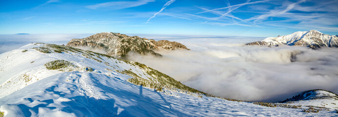 Mountains above clouds - Tatra Mountains in Poland