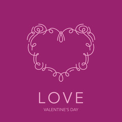 Heart Frame - Love Design for Valentine's Day Logo - in vector