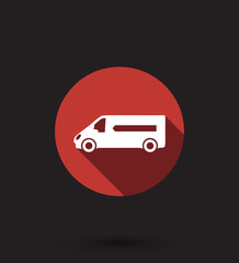 delivery car flat icon vector illustration, eps10, easy to edit