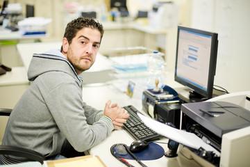 Real office clerk