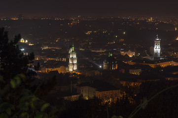 Night scenery of Lvov