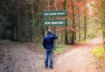 Entscheidung am Waldpfad - Ich kann nicht! vs. Ich mache!