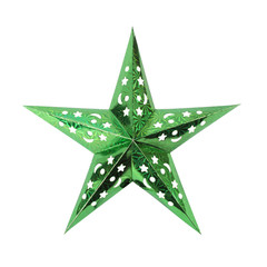 Green Star. Isolated