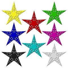 Eight stars. Isolated