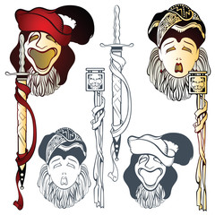 Vector comedy and tragedy theatrical masks