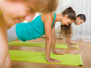 Fitness class in sport club