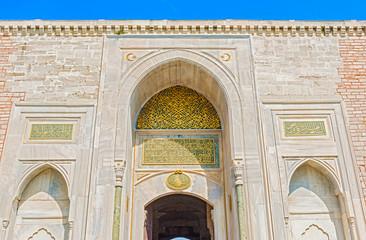 Doors to mosque in Istanbul, Turkey.