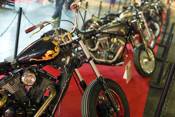Luxury motorcycles at exhibition