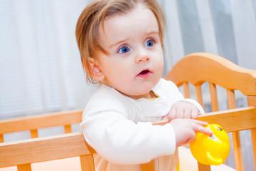 Serious little girl