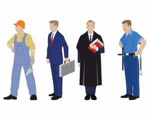 Four profession people