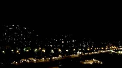 night traffic jam  time Lapse