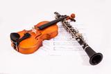 Geige und Klarinette