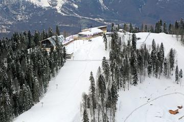 The ski and biathlon complex in Sochi