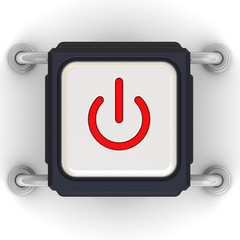 Кнопка с символом включения питания