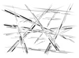 Abstract crossing lines