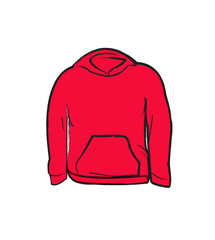 Jacket vector red coat