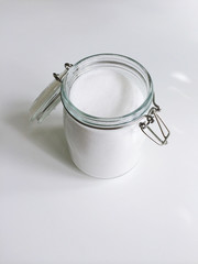 Jar of granulated sugar