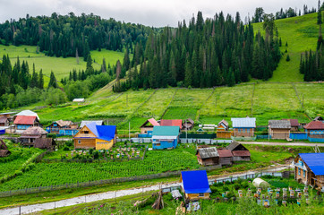 The village in the mountains of the Southern Urals. Russia