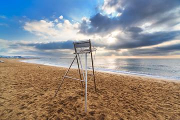 lifeguard metal chair