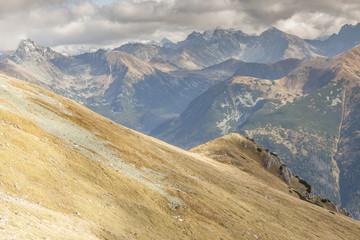 View from Ciemniak  - Tatras Mountains. Autumn day.