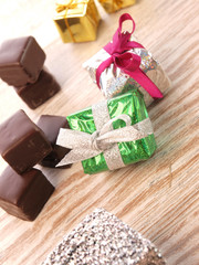 Chocolate with gift boxes