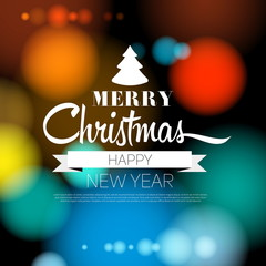Merry Christmas and Happy New Year 2015 Card - vector EPS10